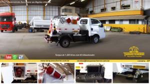 Tanque para transporte de combustível capacidade para 1200 litros - Veículo VUC.