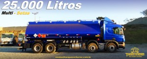 Tanque para transporte de combustível 25.000 Litros Multi - setas