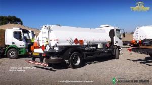 Tanque para transporte de combustível capacidade para 10.000 litros - Botton Loading
