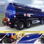 Caminhão tanque para transporte de combustível