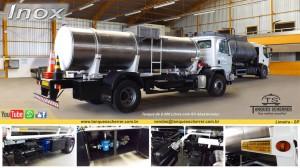 Tanque para transporte de combustível e líquidos em geral de aço inox
