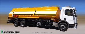 Tanque para transporte de combustível com 9 compartimentos
